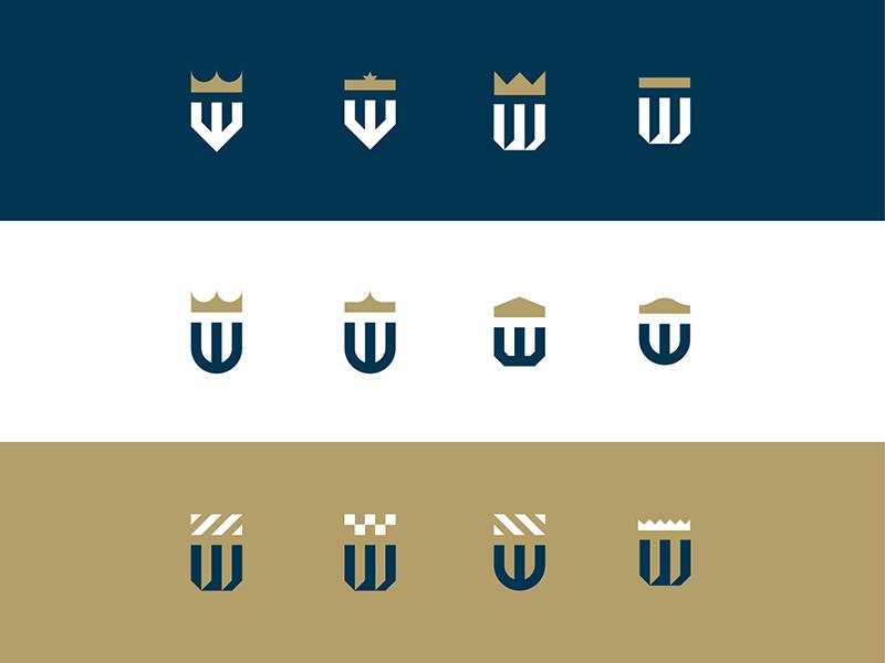 """W"" Mark shield identity branding badge mark logo"