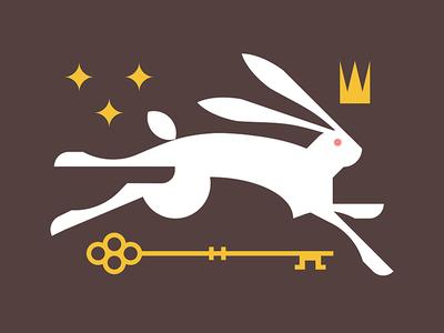 Keep Moving cult magic mystic secret hop crown star key run rabbit bunny
