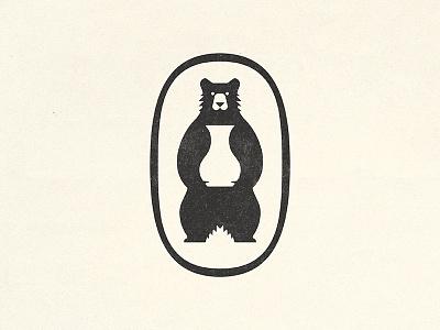 Ceramic Artist Logo mark badge logo ceramic pot bear