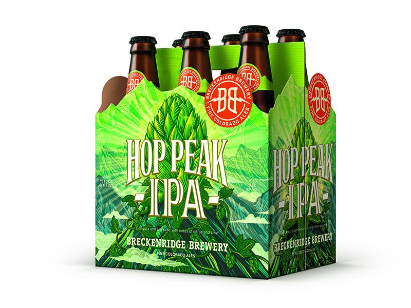 Hop Peak IPA vine shine cloud bud mountain label package beer