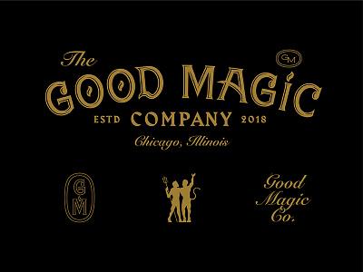Good Magic Company demon devil pitchfork chicago logo typography magic