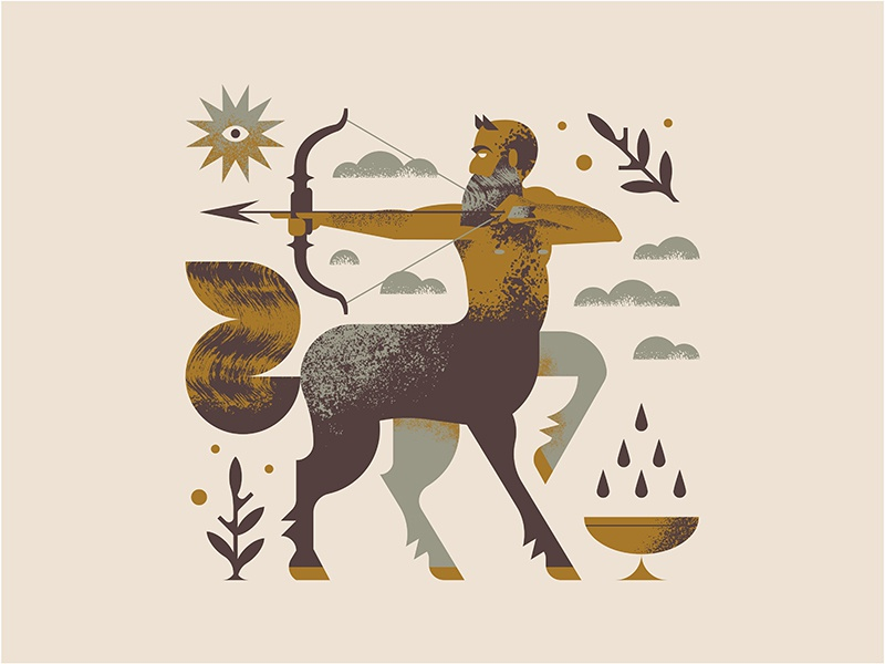 Centaur mythology greek cloud brush texture centaur man horse plant sun eye