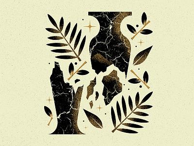 Patience grain texture crack shatter break palm pot star leaf branch ceramics vase