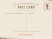 Brianrau cults postcard back