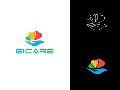 EiCare Logo Design branding identity vector design logo illustrator design photoshop design logo design branding colorful logo creative logo design logo design