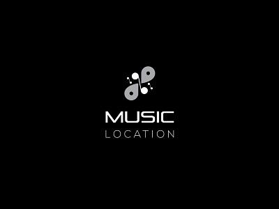 MUSIC LOCATION LOGO flat logo design creative logo design unique logo design logo illustrator design music branding identity logo design branding logo design music logo