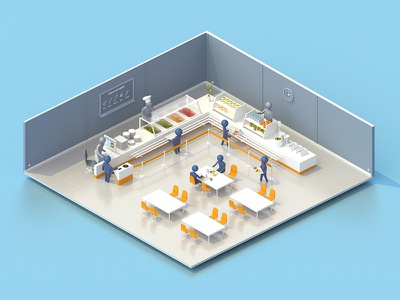Cantine cantina isometric 3d