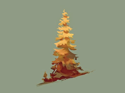 Tree study tree painting