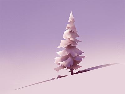 Tree 2 study drawing geometric tree