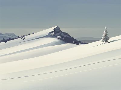 Jura moutain snow illustration graphic jura
