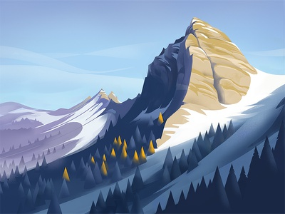 Dent de Jaman switzerland illustration graphic mountain