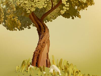 Tree experimentation nature illustration blender3d 3d tree