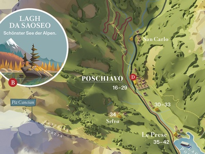Valposchiavo - Illustrated map