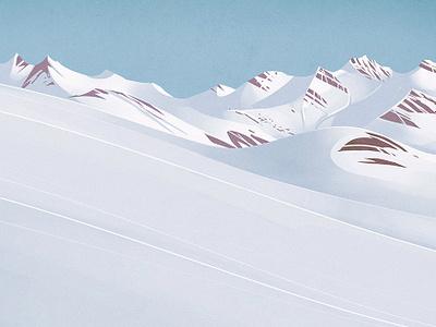 Grimsel landscape snow digital painting illustration swiss alps switzerland mountain