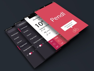Pendl app design iphone app bad good icons flat illustrator pendl weather bike photoshop