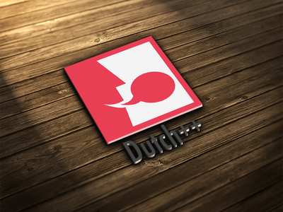 Logo dutch++ dutch communication 3d red clean photoshop illustrator logo