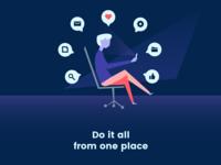 App Onboarding Illustration Screen #3