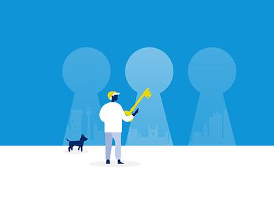 limber digital illustrations | Unlock multiple skills & venues ui vector illustration limber app illustration flat design illustration digital illustration
