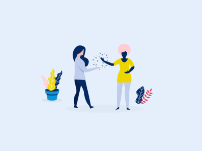 limber digital illustrations | Invite your friends ui vector illustration limber app illustration flat design illustration digital illustration