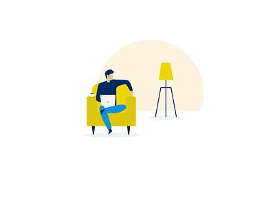limber digital illustrations | Sit tight while we verify you ui vector illustration limber app illustration flat design illustration digital illustration