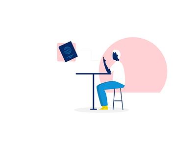 limber digital illustrations | Grab your passport to be verified ui vector illustration limber app illustration flat design illustration digital illustration
