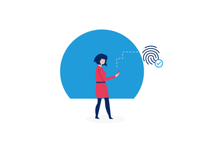 limber digital illustrations | We need to verify your identity ui vector illustration limber app illustration flat design illustration digital illustration