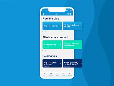 Invoicing app | Explore explore faq invoicing app flat design app design mobile app ux design ui design