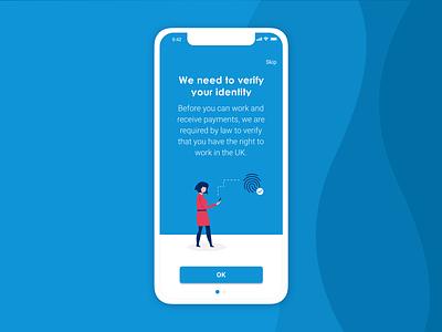 Invoicing app | Verification #1 ui mobile app app design ux design ui design vector illustration app illustration flat design illustration digital illustration