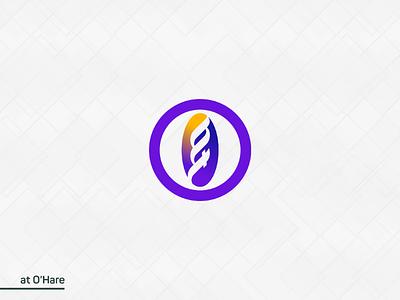 at O'Hare logo concept word mark logo logo mark modern logo illustration apps icon icon o icon logo idea branding logos brand logo o logo ohare