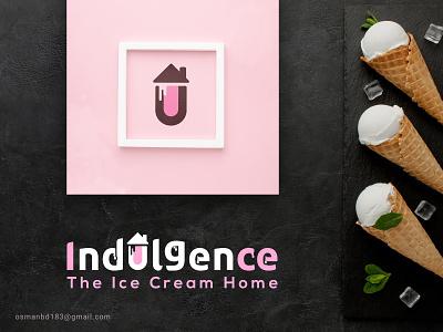 Indulgence Logo Design icon ice effect identity motion arabic logo branding font logo typo logo brand typography logo idea graphics design ice cream logo illustration