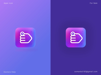 Doctors Help Apps Icon For Sale like logo best logo graphics logo idea design illustration icon branding medical icon doctor logo medical logo modern apps modern logo apps icon apps hand icon