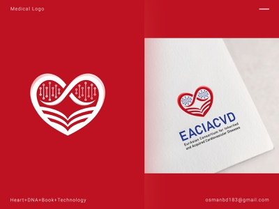 EACIACVD Cardiology Medical Logo typography graphics health medical book design medical book logo homepage medical identity icon branding logo idea illustration medical icons heart icon heart logo medical logo
