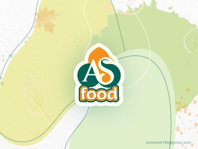 AS food Logo Design negative space logo green logo natural logo brand motion art typography graphics design logo idea icon illustration branding