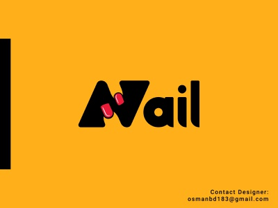 Nail logo/ Minimal Nail Logo/ Typography Logo graphic designer logo company logo maker logo designer clean luxury logo minimalist logo modern logo idea monogram logo mark nail logo nail minimal logo conceptual logo logo idea illustration logo branding