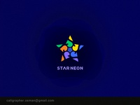 Star Neon Logo Design