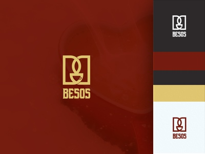 Besos Logo graphics vector typography coffee shop inspiration leaf logo awesome brand colorful bb b brand red logo concept coffe logo coffeeshop company cup