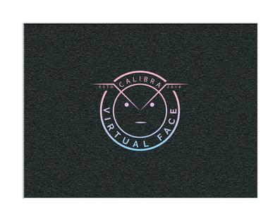 Calibra Virtual Face Line Typo logo