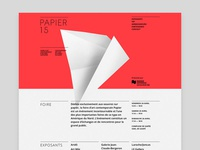 Papier15 website