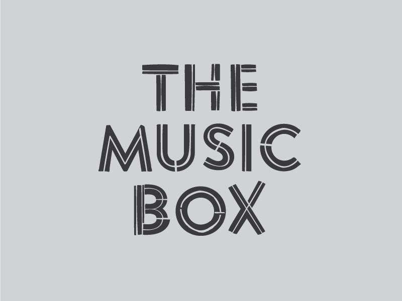 USF CAM - The Music Box brands assets logo lettering