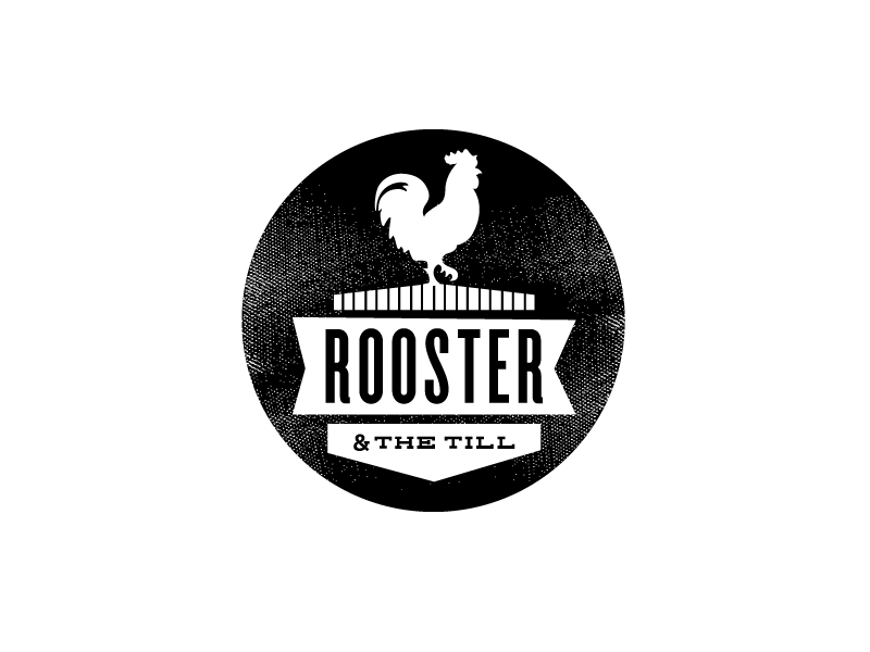 Rooster & the Till icon badge rooster tampa restaurant branding logo identity
