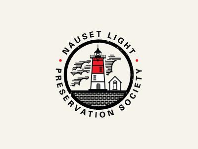 Nauset Light Preservation Society cape cod lighthouse branding logo identity