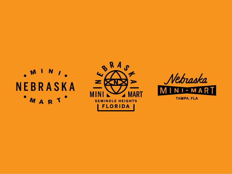 Nebraska Mini-Mart seminole heights tampa lettering identity branding logo