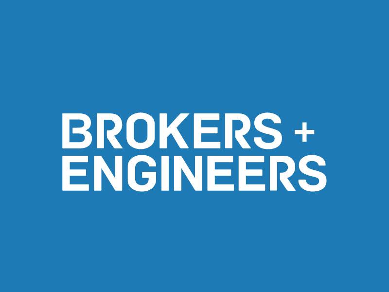 Brokers + Engineers Identity real estate logotype logo identity san francisco new york city tampa engineers brokers