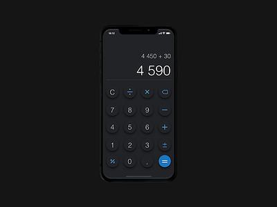 DailyUI #004 calculator challenge mobile ui iphonex iphone day3 dailyui