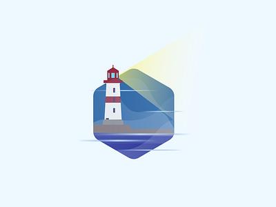 DailyUI #005 ui mobile app icon challenge day5 dailyui lighthouse