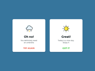 Daily UI #011 Flash Message notifications cards flash message day10 dailyui