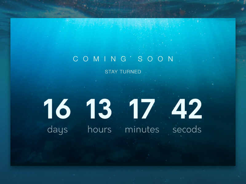 Daily UI #014  Countdown Timer day14 coming soon sea web dailyui timer countdown