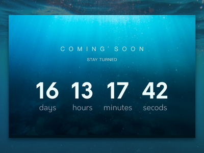 Daily UI #014  Countdown Timer day14 coming soon sea web dailyui timer countdown