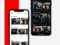 Netflix App Redesign | Light & Dark