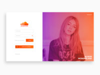 Soundcloud Login | Redesign